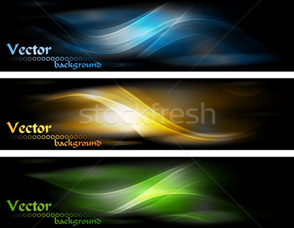 Abstract glowing banners collection Stock photo © saicle