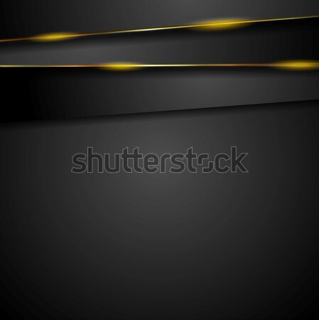 Dark tech background with glowing light Stock photo © saicle