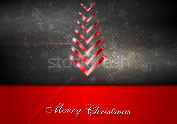 Bright red fir-tree christmas background Stock photo © saicle
