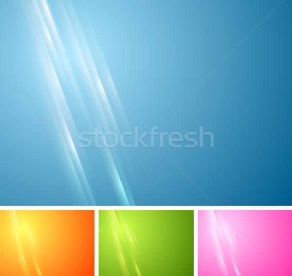 Tecnología vibrante resumen vector plantilla de diseño negocios Foto stock © saicle