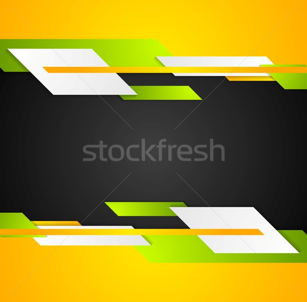 Heldere contrast tech corporate vector grafisch ontwerp Stockfoto © saicle