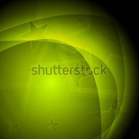 Zdjęcia stock: Zielone · wektora · fale · ciemne · falisty · projektu
