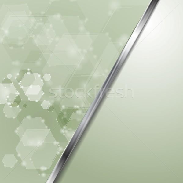 薄緑 ハイテク ベクトル 抽象的な デザイン ストックフォト © saicle