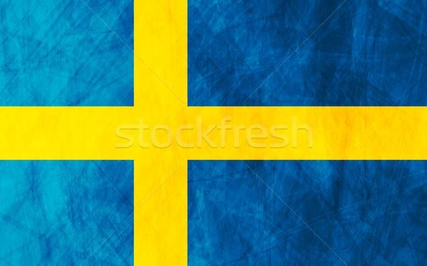 Swedish grunge flag Stock photo © saicle