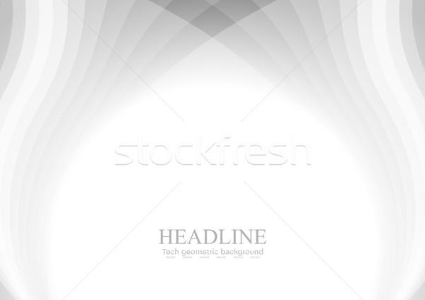 аннотация серый вектора волнистый шаблон белый Сток-фото © saicle