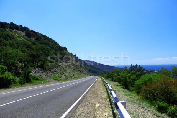 山 道路 画像 空っぽ ツリー 自然 ストックフォト © saicle