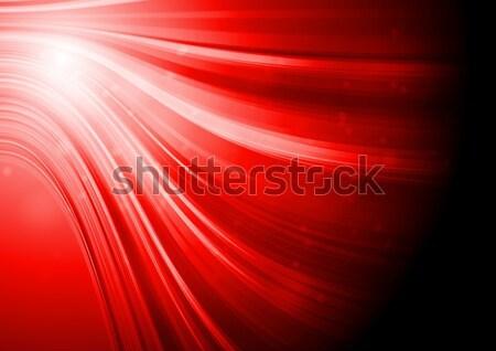 ストックフォト: 赤 · エレガントな · 波 · 抽象的な · 波状の · eps