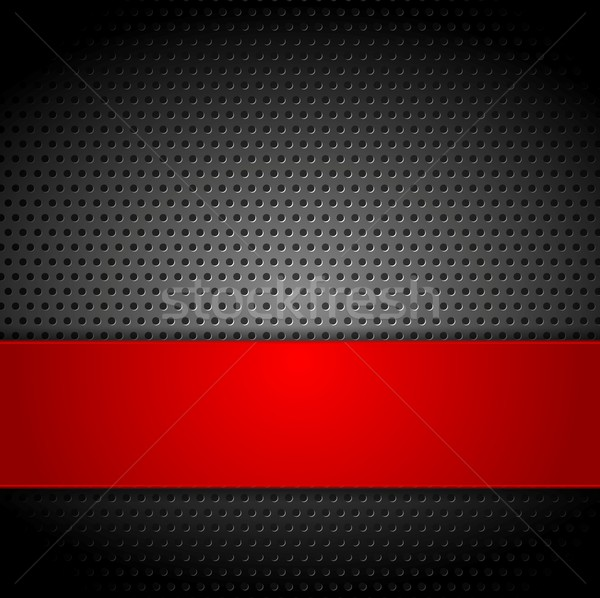 Abstract metal perforated vector background Stock photo © saicle