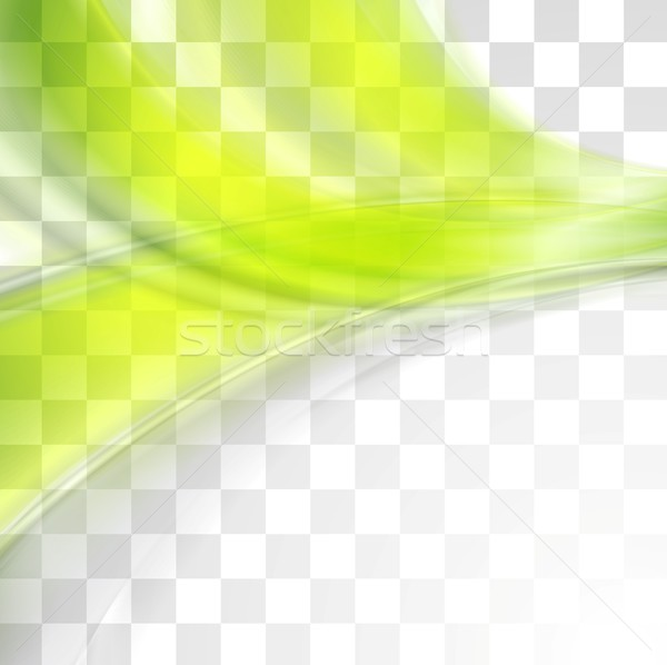 Bright green soft abstract transparent waves Stock photo © saicle