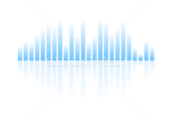 Blauw musical equalizer ontwerp witte heldere Stockfoto © saicle
