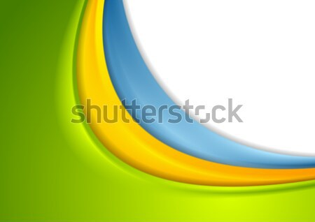Abstract colorful smooth corporate waves background Stock photo © saicle