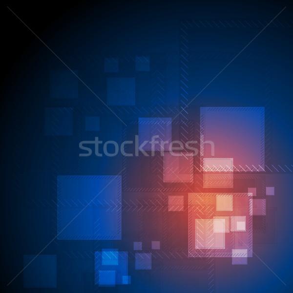 Brillante resumen futurista técnica brillante vector Foto stock © saicle