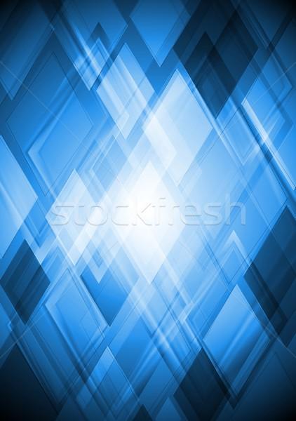 Brilhante azul vetor projeto abstrato eps Foto stock © saicle