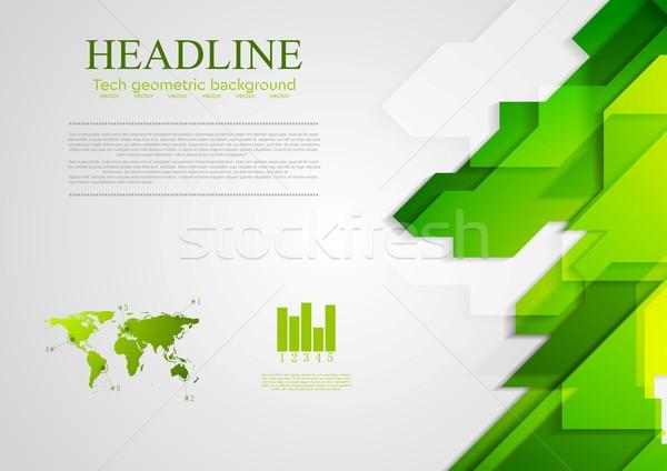 Abstrato verde brilhante vetor projeto textura Foto stock © saicle