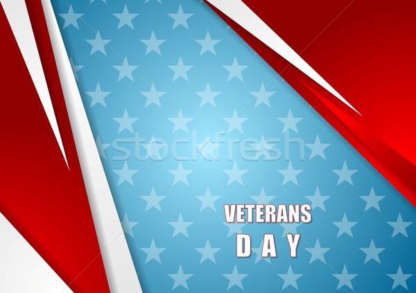 Abstract Veterans Day background Stock photo © saicle