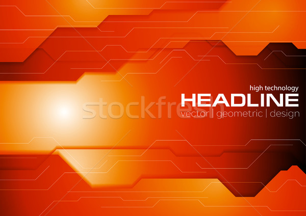 Donkere oranje corporate vector grafisch ontwerp textuur Stockfoto © saicle