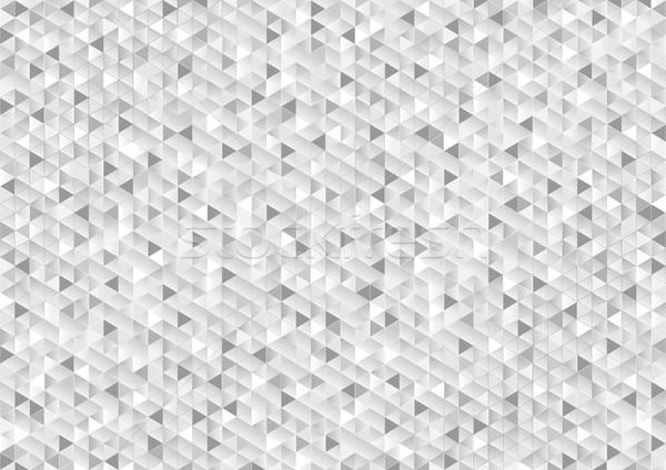 Gri parıltı mozaik teknik vektör dizayn Stok fotoğraf © saicle