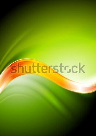 зеленый оранжевый вектора волны аннотация Сток-фото © saicle
