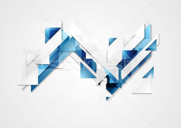 Heldere geometrie vector ontwerp textuur abstract Stockfoto © saicle