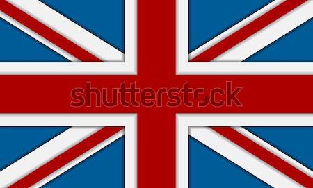 Büyük Britanya büyük britanya bayrak vektör kurumsal soyut Stok fotoğraf © saicle