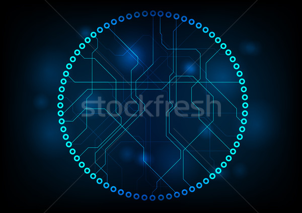 Donkere technologie circuit board vector ontwerp abstract Stockfoto © saicle