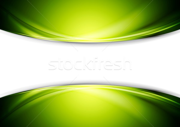 Bright green wavy abstract vector design Stock photo © saicle