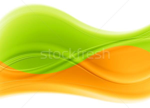 ストックフォト: ベクトル · 波 · 背景 · 抽象的な · デザイン