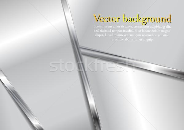 Abstract metalen moderne grijs elegante ontwerp Stockfoto © saicle