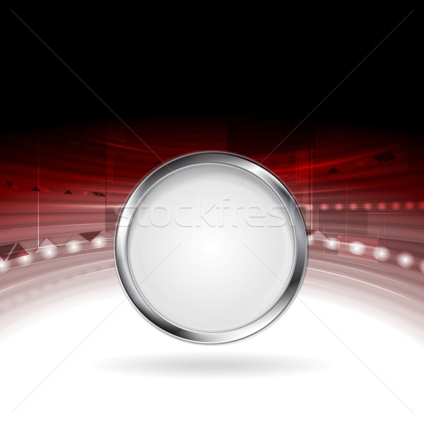 Technology motion design with metal circle frame Stock photo © saicle