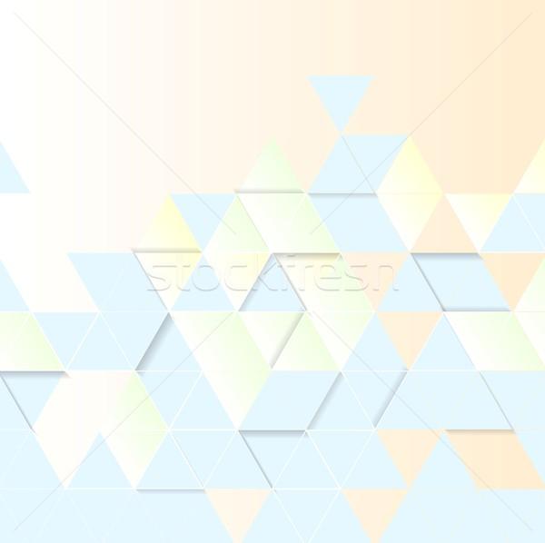 Light geometric technology background. Triangles pattern Stock photo © saicle