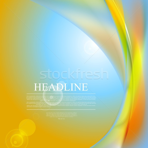 Abstract shiny waves and lens flare Stock photo © saicle