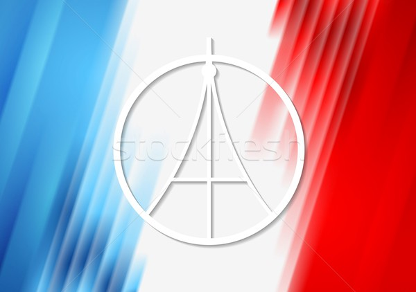 Pray for Paris. French flag colors Stock photo © saicle
