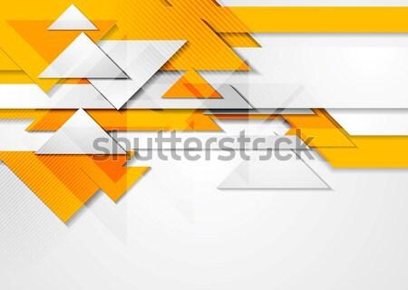 Oranje abstract vector grafische meetkundig Stockfoto © saicle