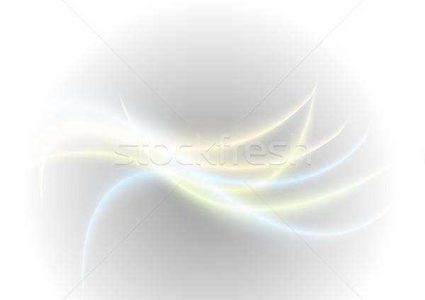 ストックフォト: 抽象的な · 明るい · 波 · 光