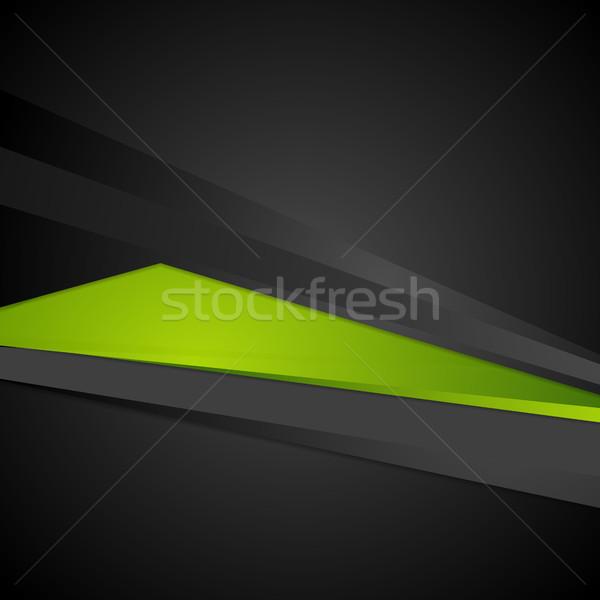 Abstract corporate digital green and black backdrop Stock photo © saicle