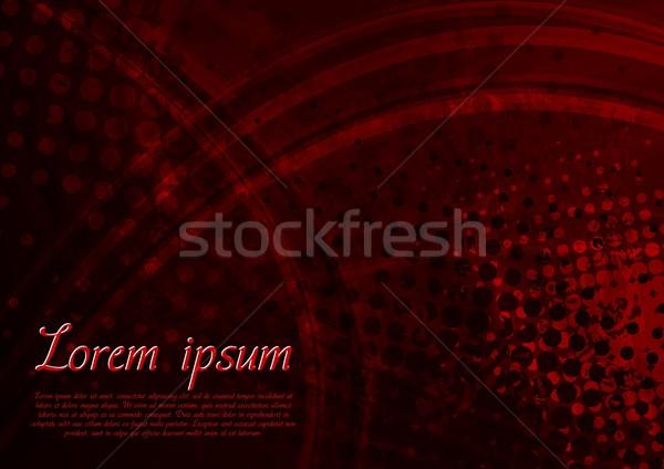Hochrot Grunge Hintergrund dunkel grunge-Textur eps Stock foto © saicle