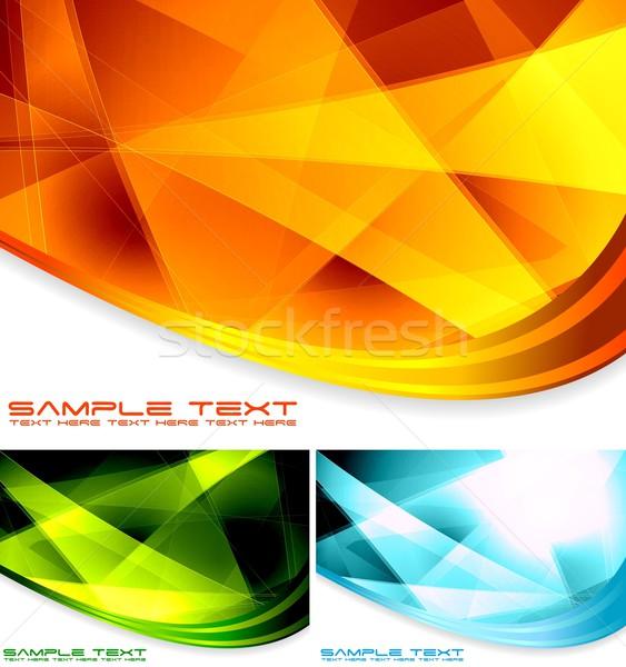 Abstract backdrops collection Stock photo © saicle