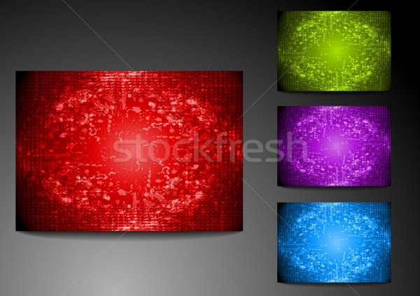 Set of grunge bright backdrops Stock photo © saicle