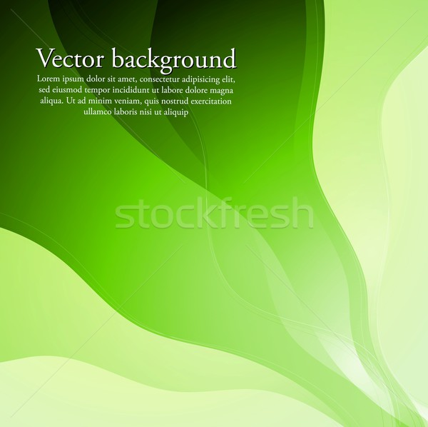 Bright green waves design. Vector background eps 10 Stock photo © saicle