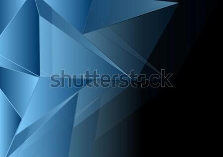 Donkere vector ontwerp abstract Blauw licht Stockfoto © saicle
