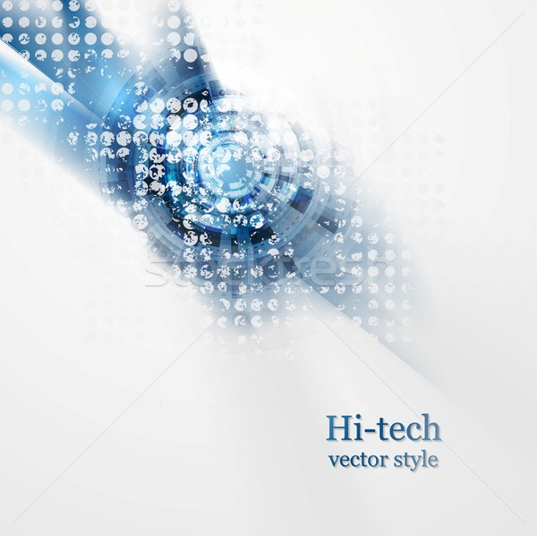 Blue grunge hi-tech vector background Stock photo © saicle