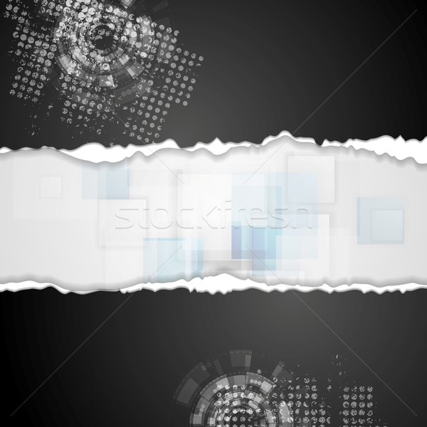 Grunge technical background with ragged edge paper Stock photo © saicle