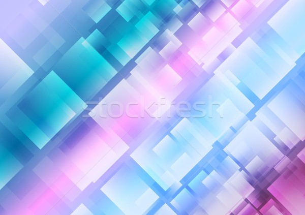 Abstract blue purple squares background Stock photo © saicle