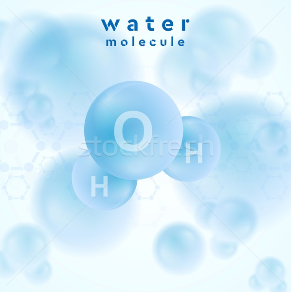 H2o water blue molecule vector abstract design Stock photo © saicle
