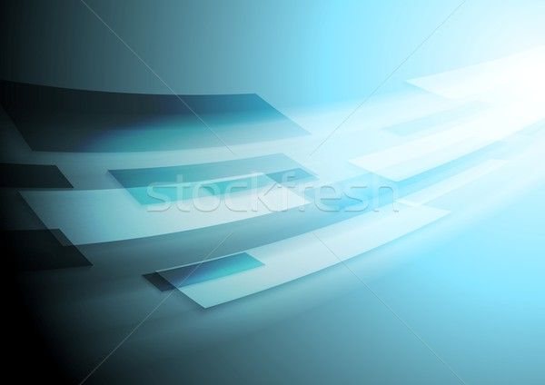 Bright blue hi-tech vector motion image background Stock photo © saicle