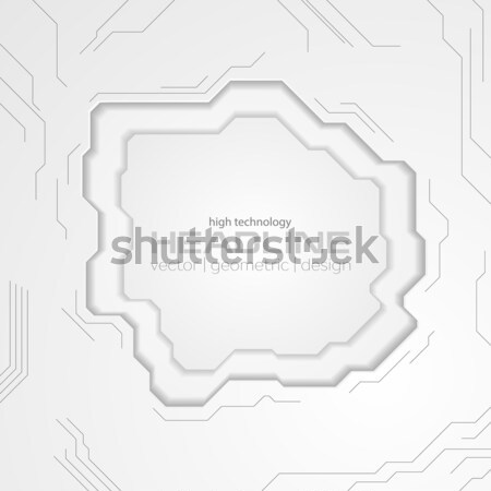 Dark blue technology abstract background with circuit board Stock photo © saicle
