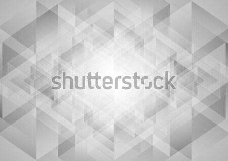 Stockfoto: Grijs · abstract · tech · laag · vector · ontwerp