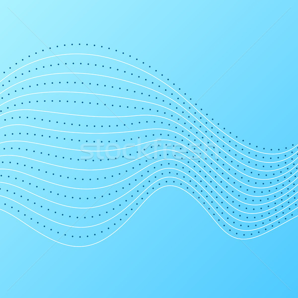 Luminoso blu abstract ondulato linee vettore Foto d'archivio © saicle