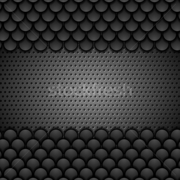 Preto metálico monocromático textura vetor projeto Foto stock © saicle
