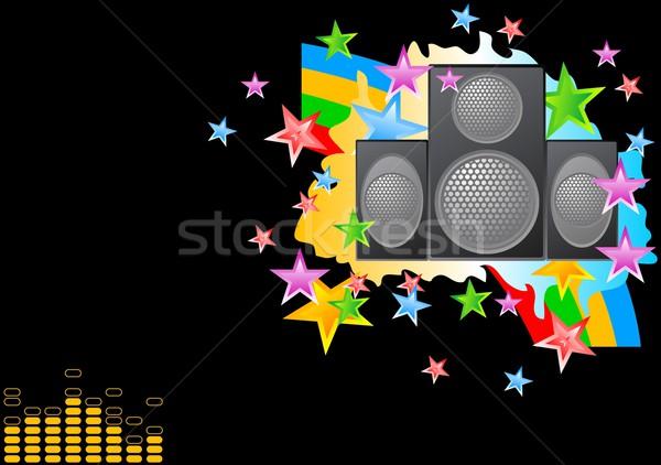 Musical fényes kép fekete tánc absztrakt Stock fotó © saicle